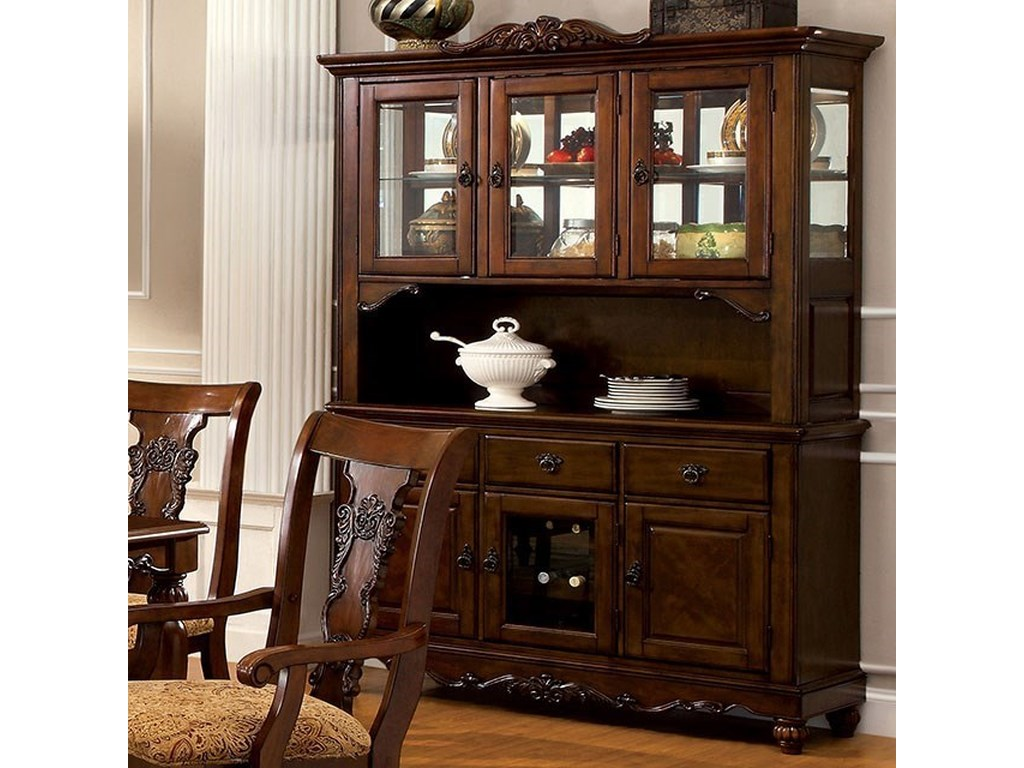 Furniture Of America Seymour Cm3880hb Traditional Hutch Buffet With