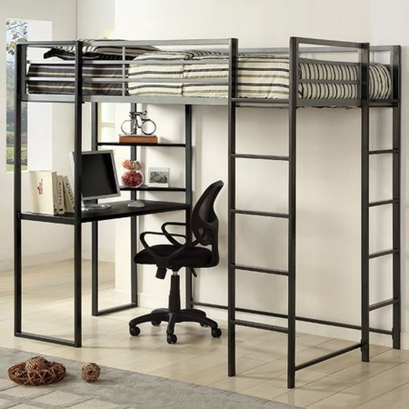 Twin Bed with Workstation