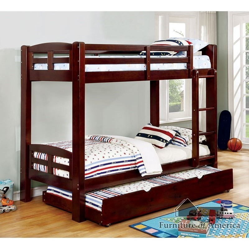Furniture Of America Solpine Casual Youth Bedroom Twin Over Twin