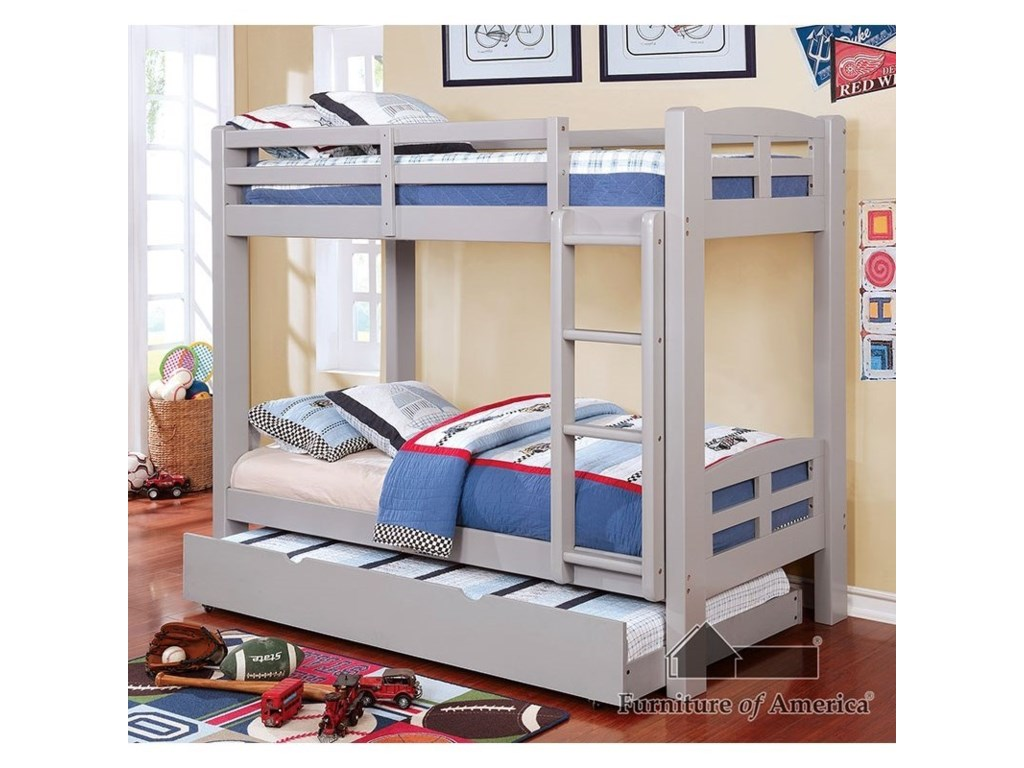 Furniture of America SolpineTwin/Twin Bunk Bed