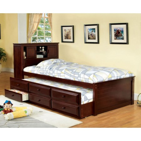 Captain Twin Bed w/ Trundle and 3 Drawers