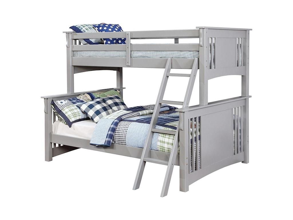 Furniture Of America Spring Creek Twin Full Bunk Bed Bunkie Board