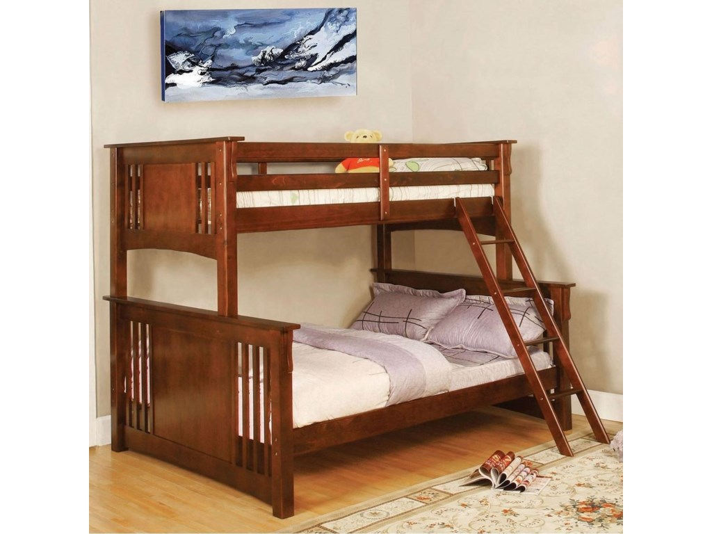 Furniture Of America Spring Creek Twin Full Bunk Bed Bunkie Board