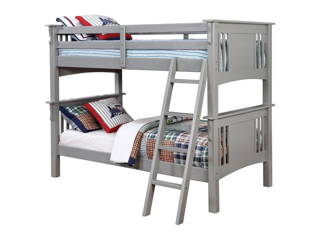 Furniture Of America Spring Creek Twin Twin Bunk Bed Rooms For