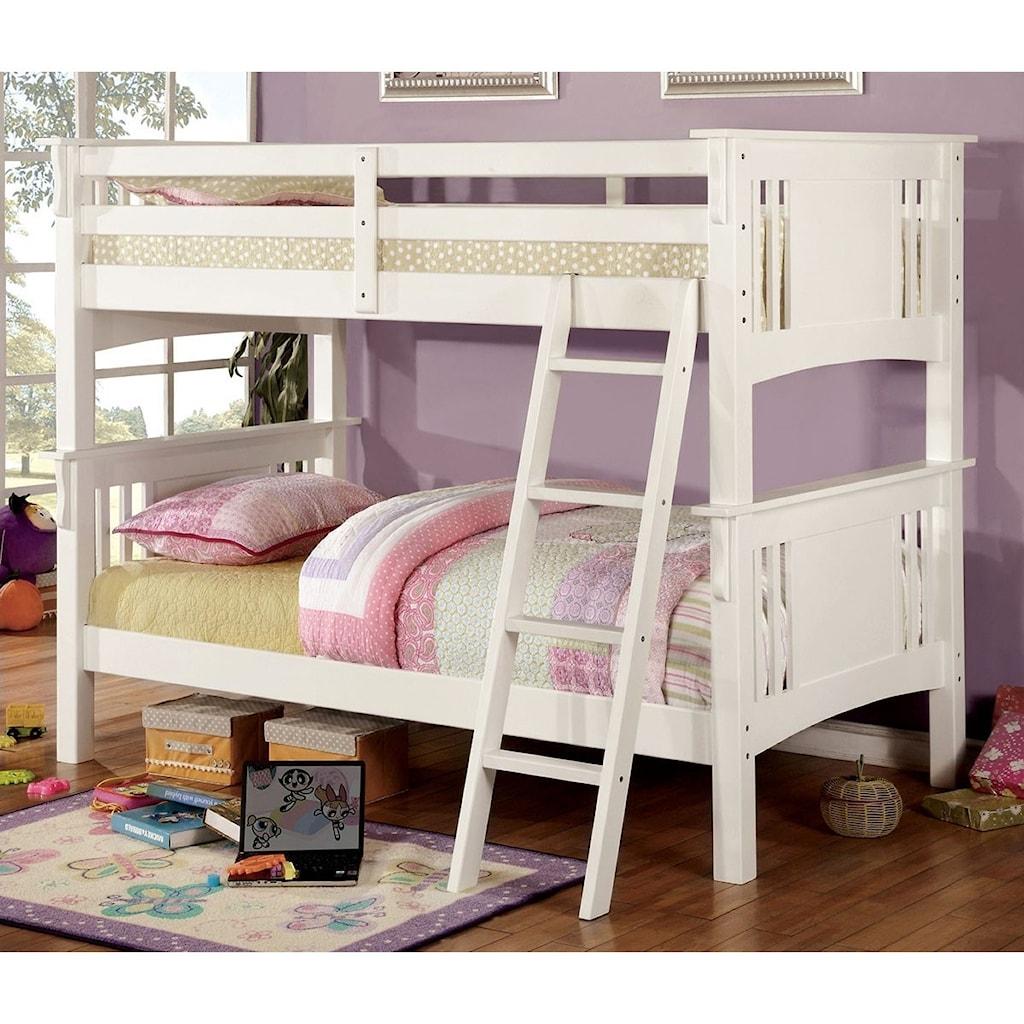 Furniture Of America Spring Creek Twin Twin Bunk Bed Bunkie Board