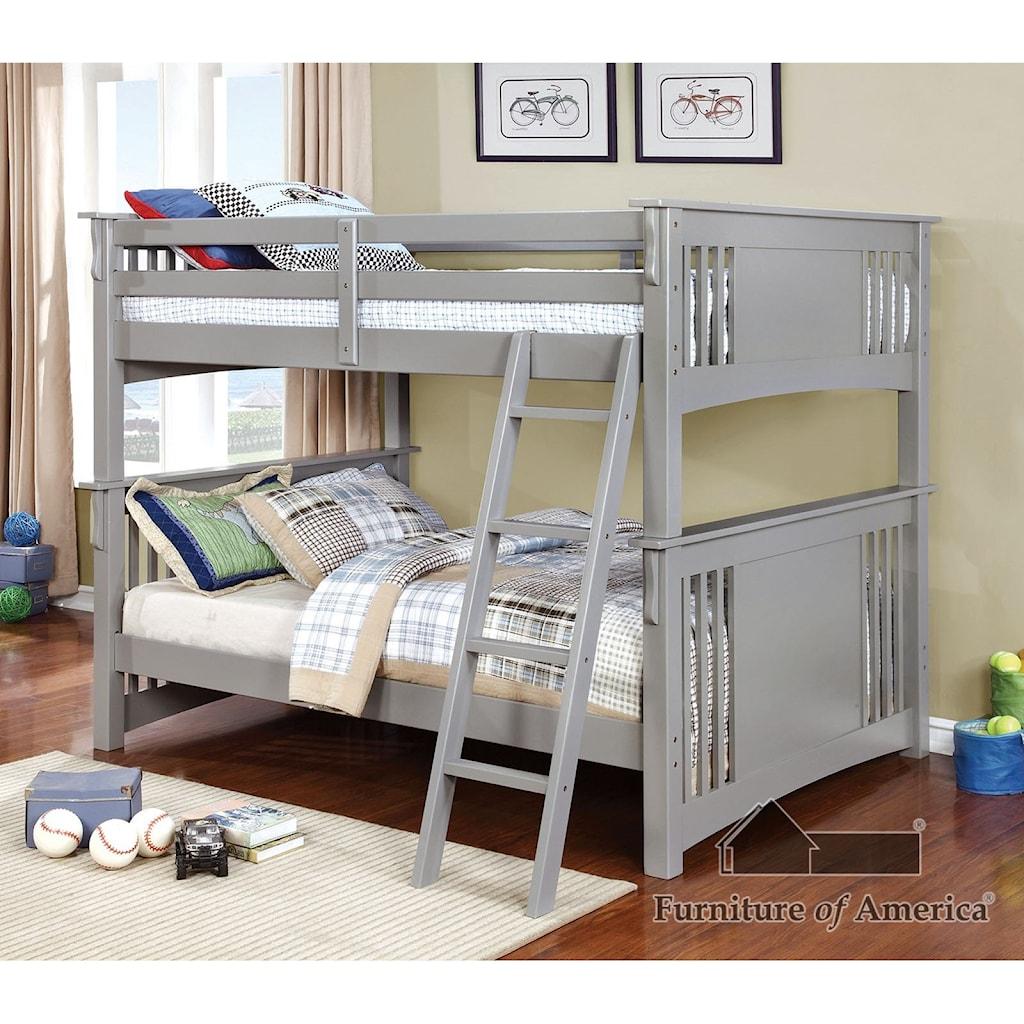 Furniture Of America Spring Creek Full Full Bunk Bed Bunkie Board