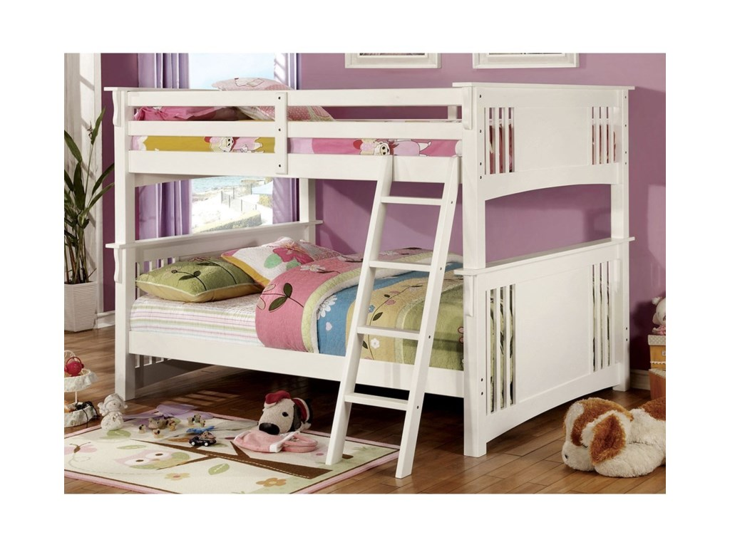 Furniture Of America Spring Creek Full Full Bunk Bed Bunkie Board