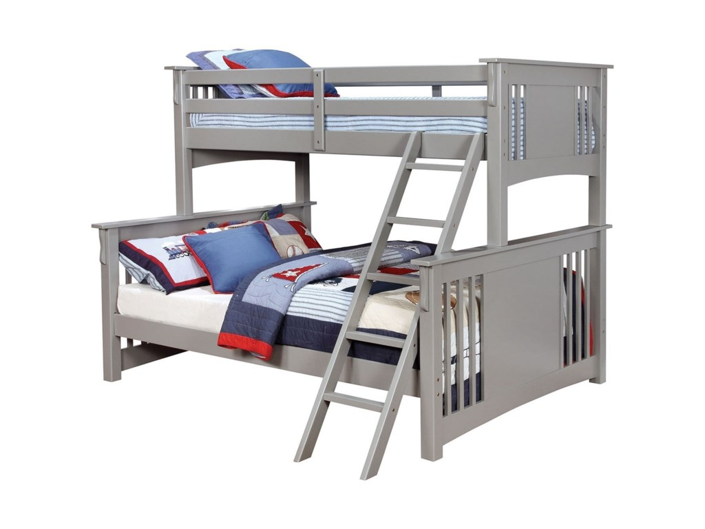 Furniture Of America Spring Creek Twin Xl Queen Bunk Bed Bunkie