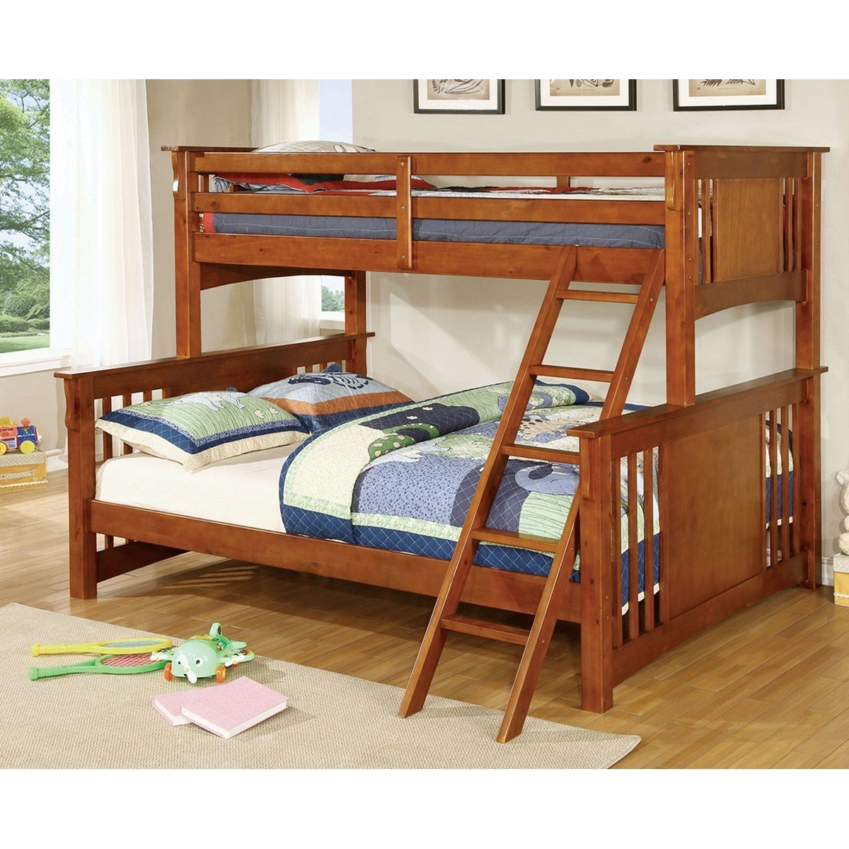 Superieur Furniture Of America Spring Creek Twin XL/Queen Bunk Bed *Bunkie Board  Required
