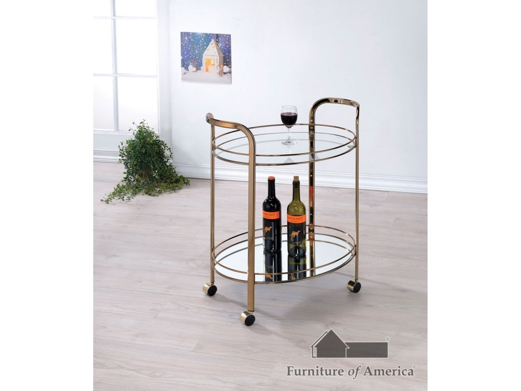 Furniture of America StarlaServing Cart