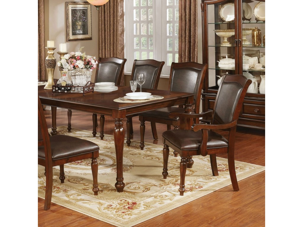 d25273d9c5aa Furniture of America Sylvana Traditional Dining Table with Leaf ...