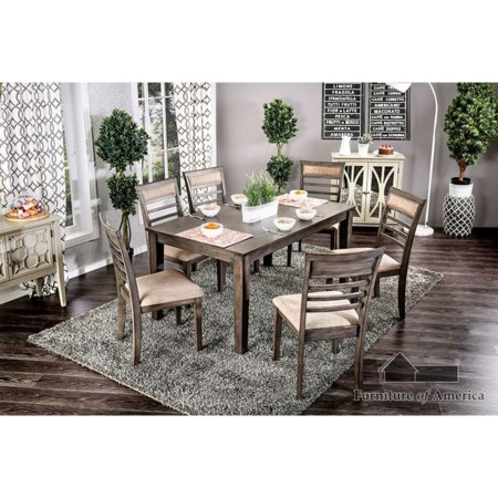 7 Piece. Dining Table Set