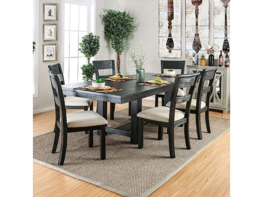 Thomaston I Modern Dining Table With Leaves By Furniture Of America At Rooms For Less
