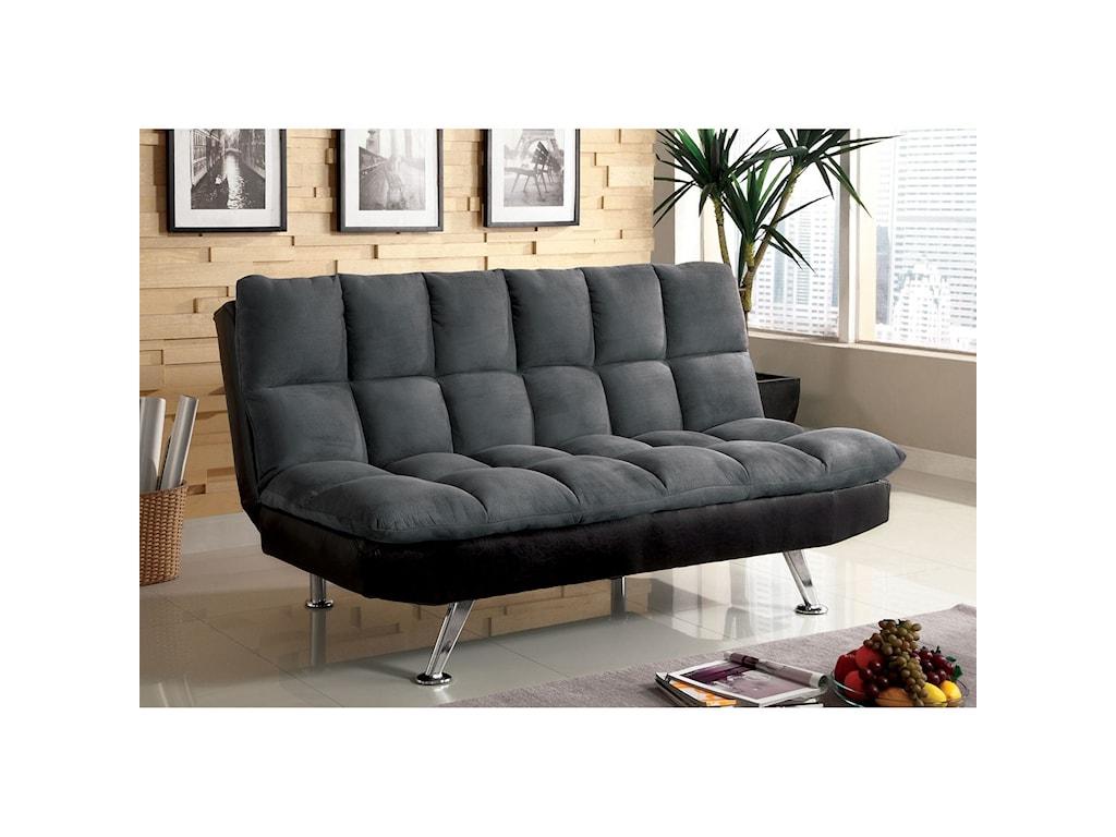 Furniture Of America Tigrayelephant Skin Microfiber Futon Sofa
