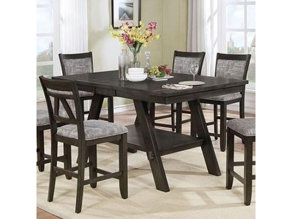 Furniture Of America Tollerson Counter Height Dining Table