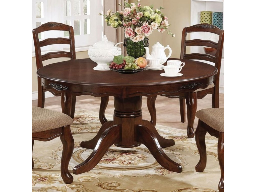 Townsville Traditional Round Dining Table By Furniture Of America At Rooms For Less