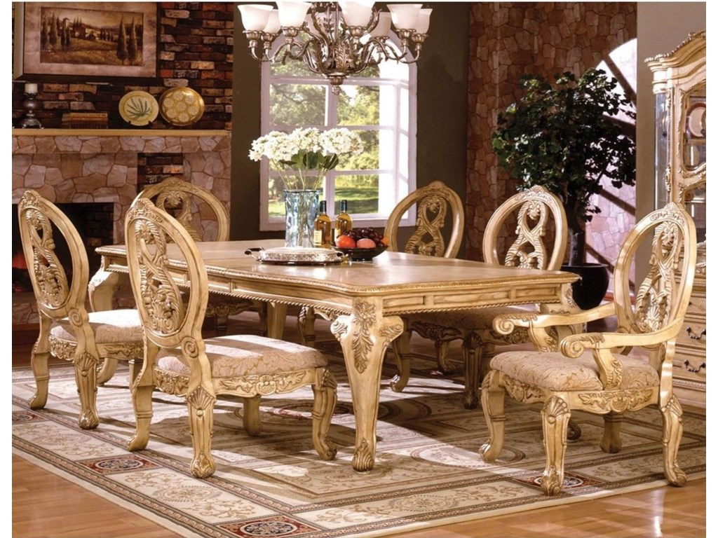 Furniture Of America Tuscany Iii Table 2 Arm Chairs 4 Side