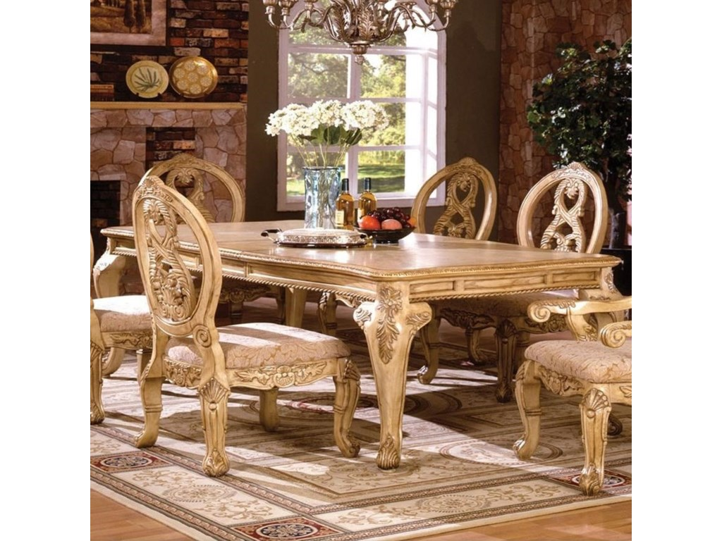 Tuscany III Formal Dining Table by America at Del Sol Furniture