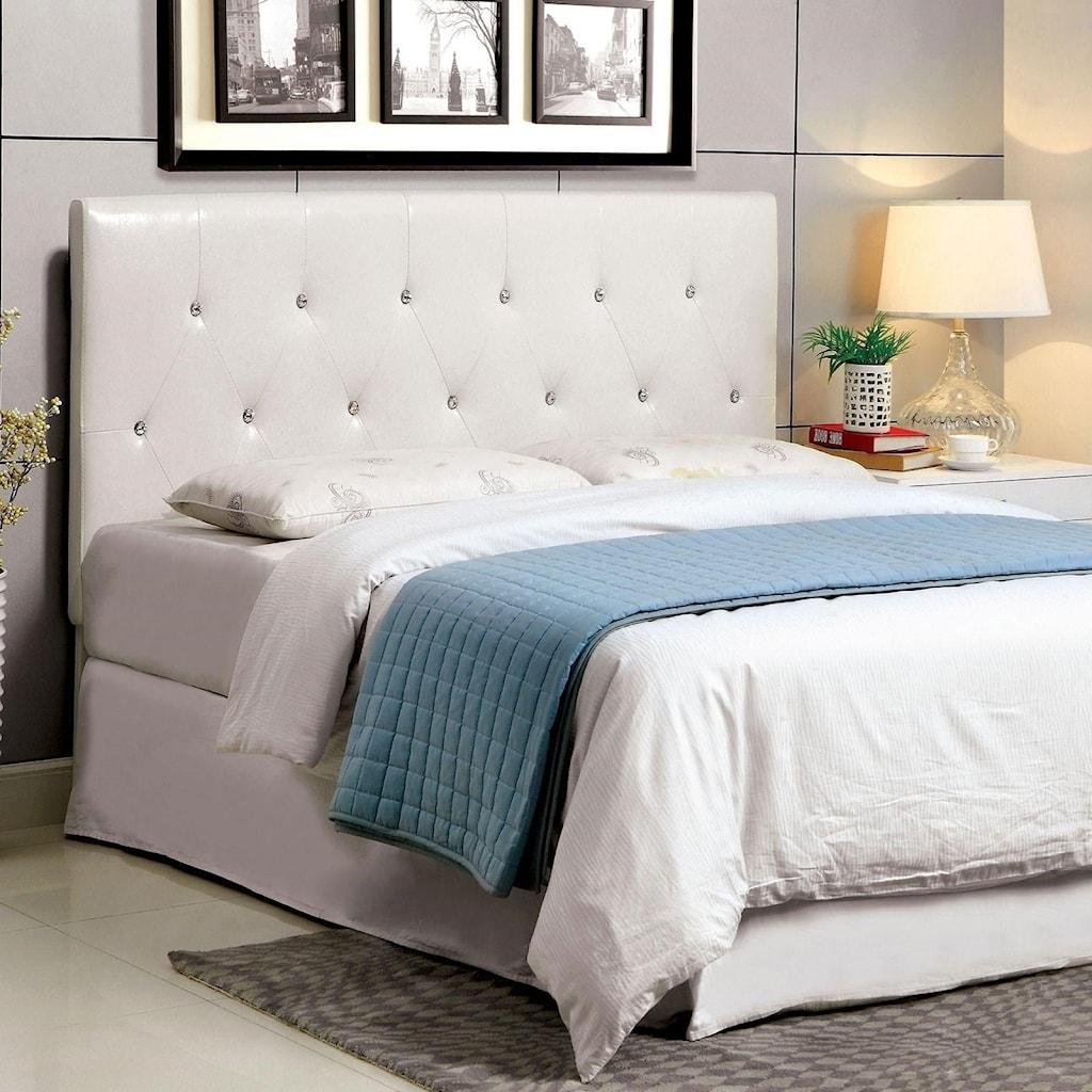 Furniture Of America Velen Cm7949wh Q Hb Queen Faux Leather