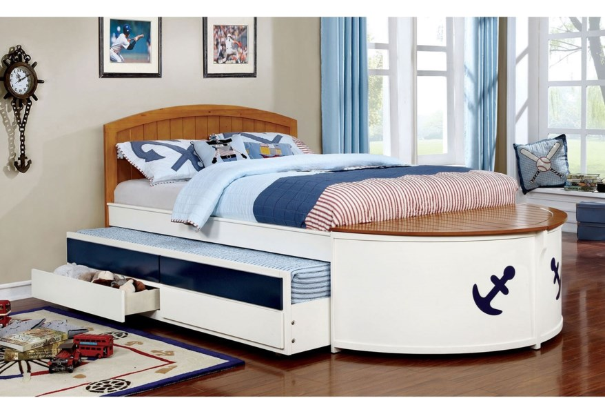 Furniture Of America Voyager Nautical Youth Bedroom Full Size Bed