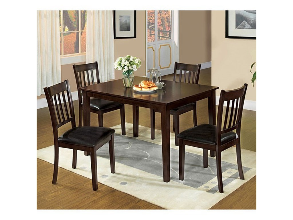 Furniture Of America West Creek I5 Pc Dining Table Set