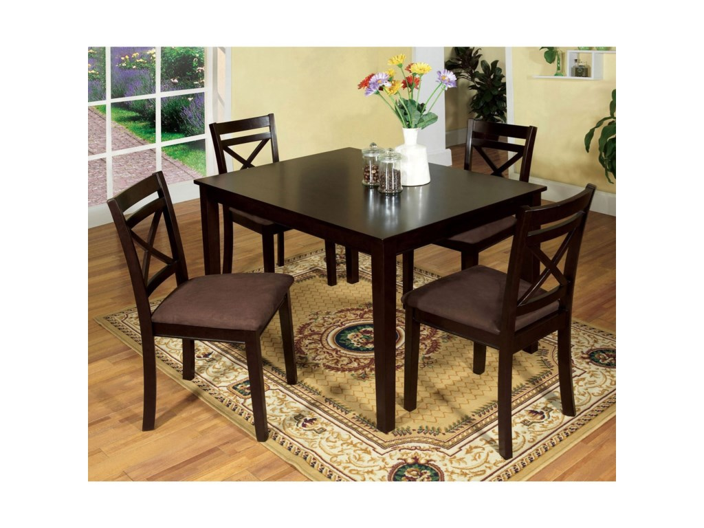 Weston I 5 Piece Dining Table Set By Furniture Of America At Rooms For Less