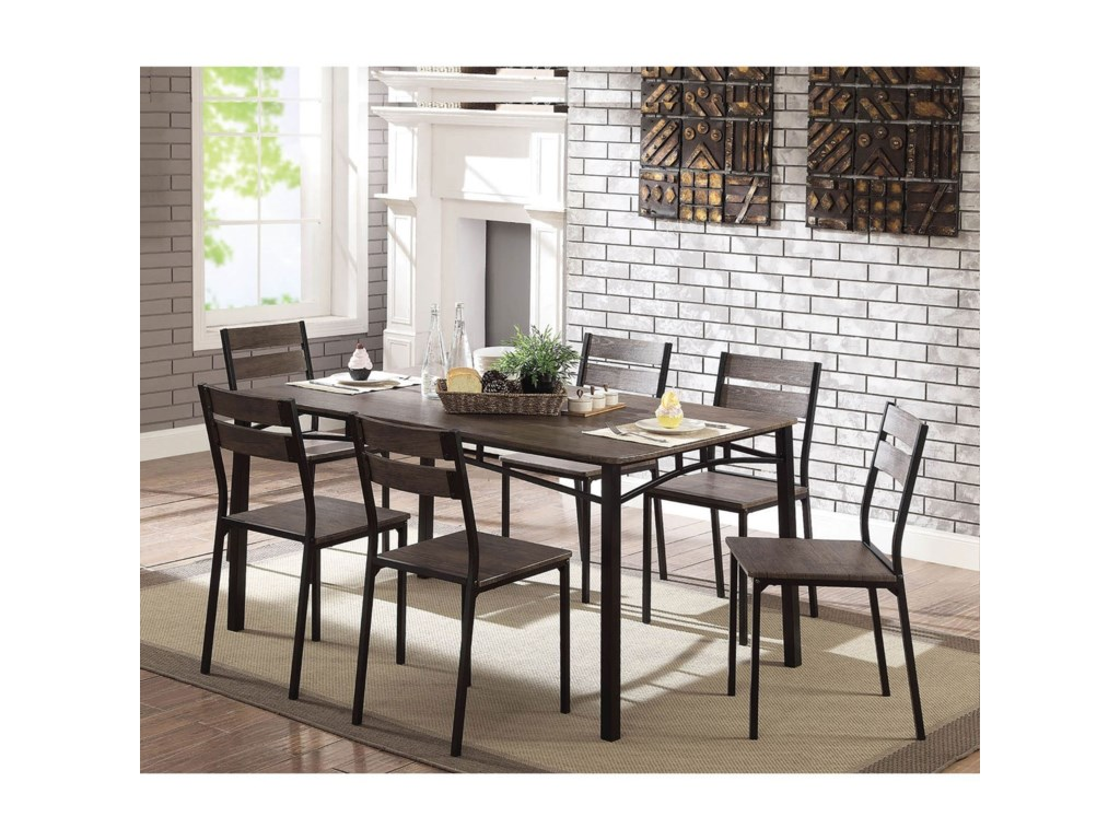 Furniture of America Westport7-Piece Dining Table Set