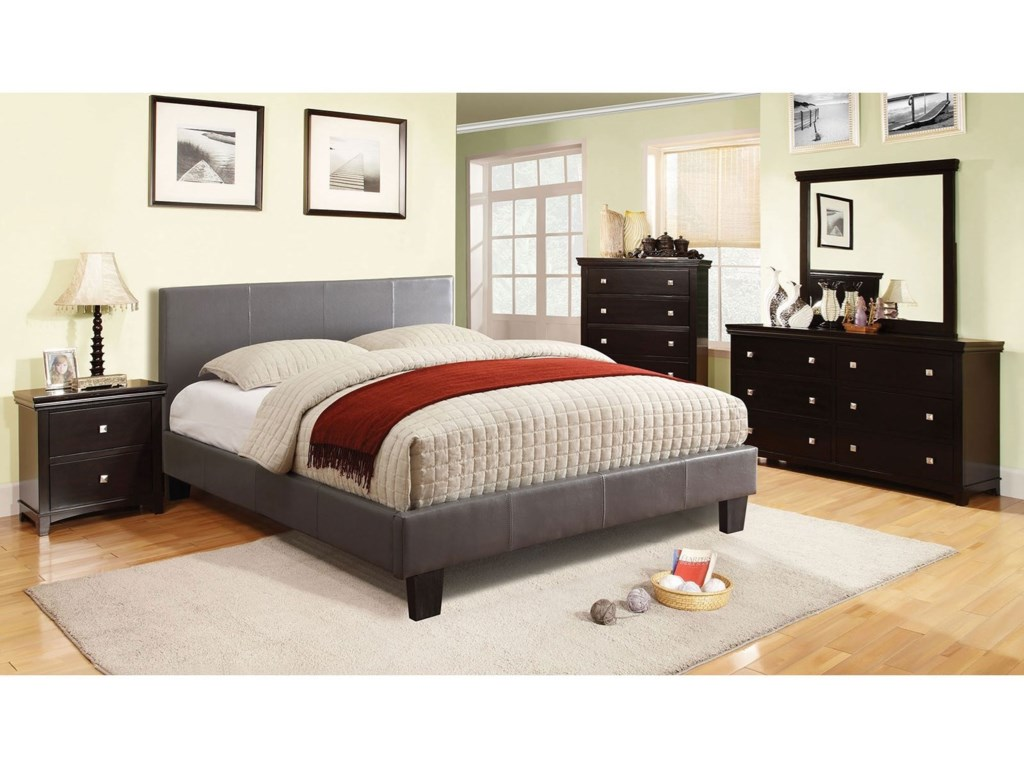 Furniture Of America Winn Park Cm7008gy Q Bed Contemporary Queen