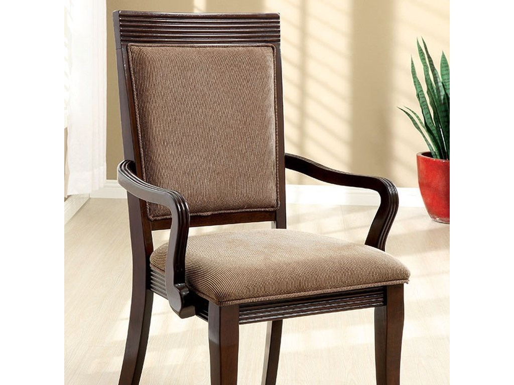 Woodmont Set Of Two Arm Chairs By Furniture America