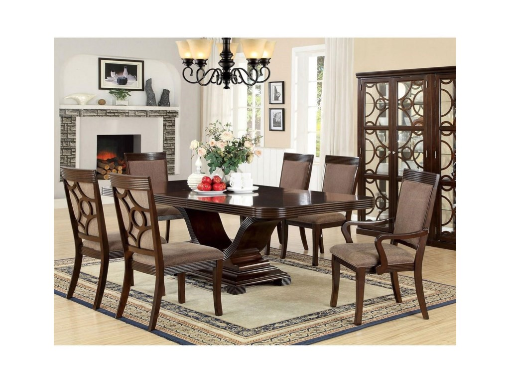 Woodmont Dining Room Set with Arm Chairs by America at Del Sol Furniture