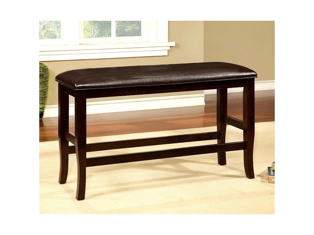 Furniture of America Woodside IICounter Height Bench