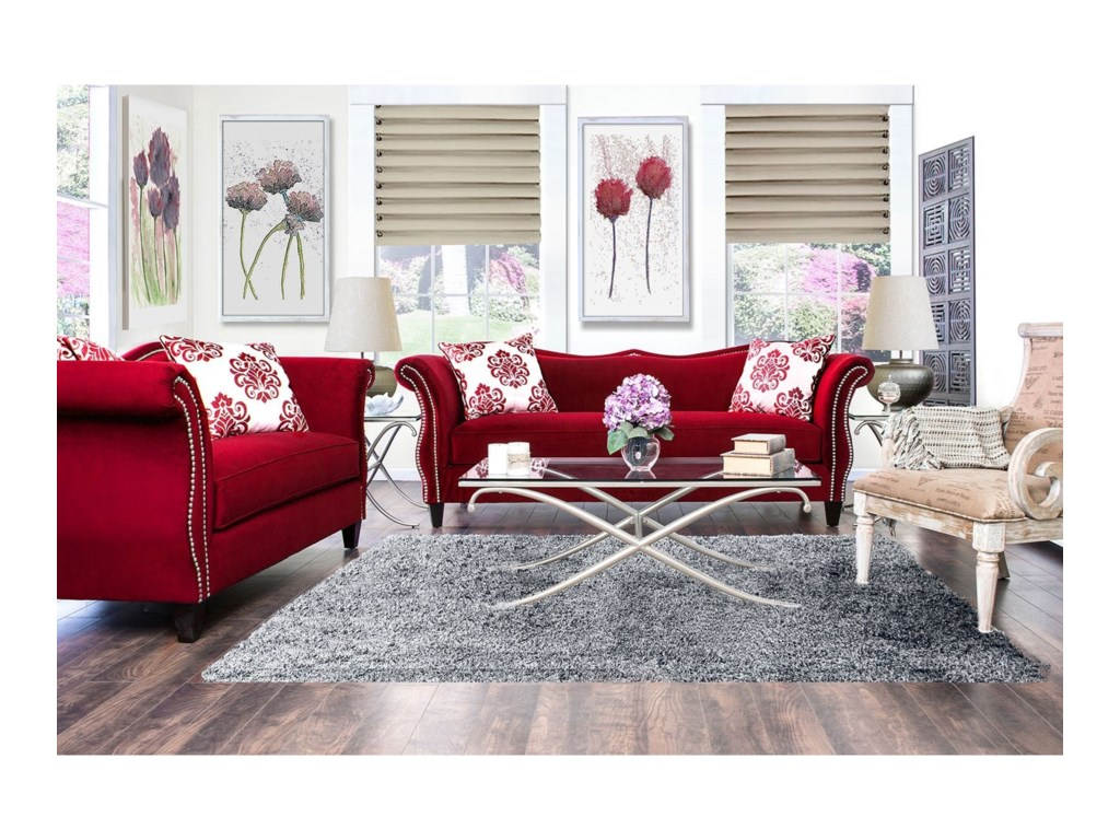 Furniture of America ZaffiroSofa and Love Seat Set