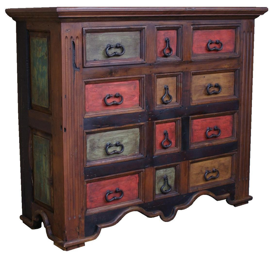Charmant Furniture Source International Dining Prusia Old Wood Colorful Wax Finished  12 Drawer Chest
