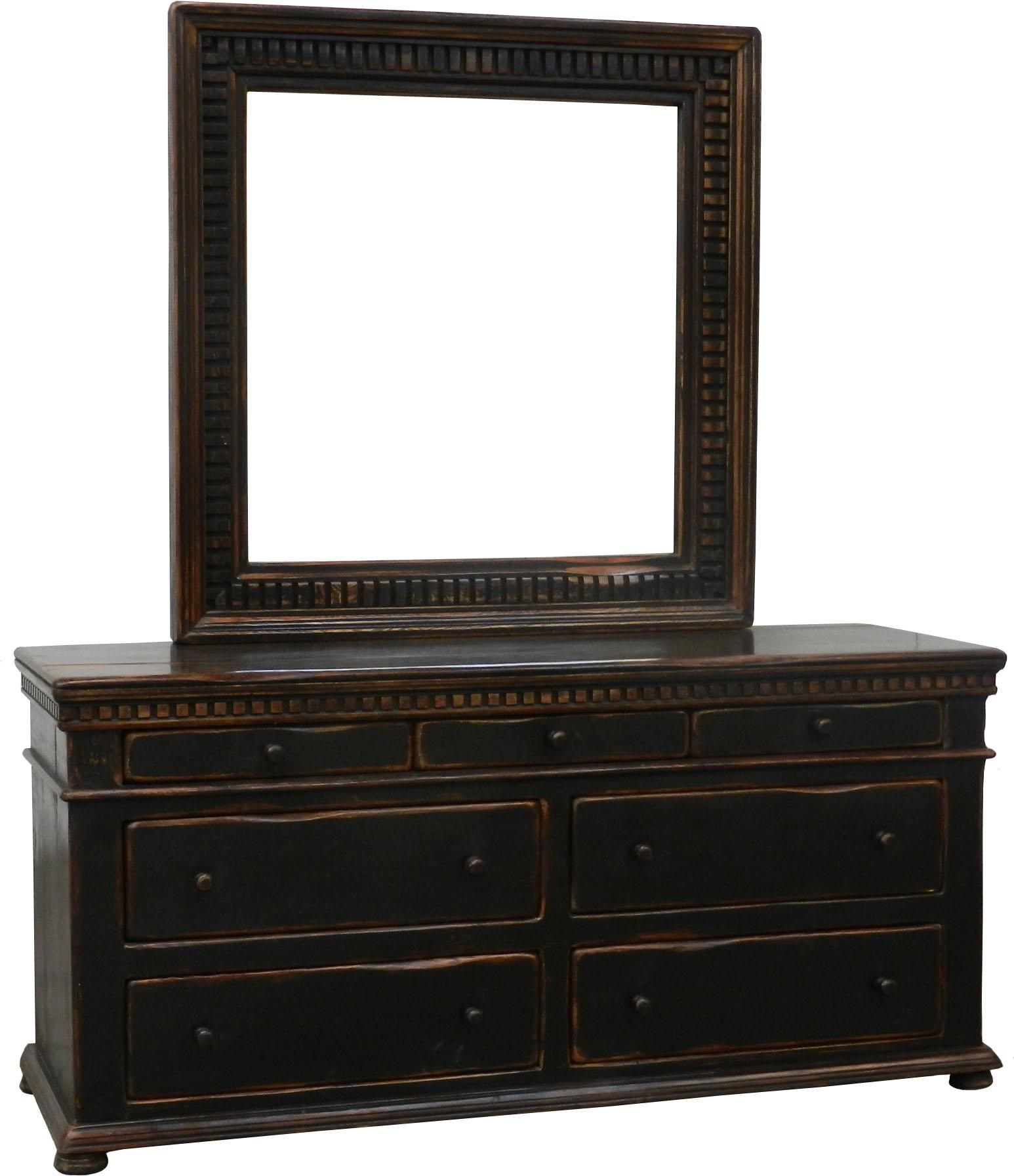 Beau Furniture Source International Easton 7 Drawer Dresser U0026 Mirror Set