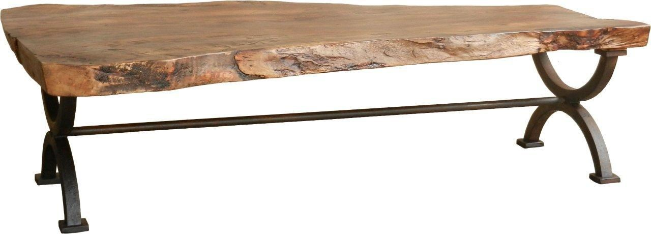 Furniture Source International Occasional Tables Wyatt Coffee Table W/ Tree  Trunk Top