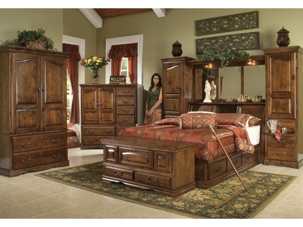 Shown with 12-Drawer Chest, Pier Group Bed, and Hope Chest