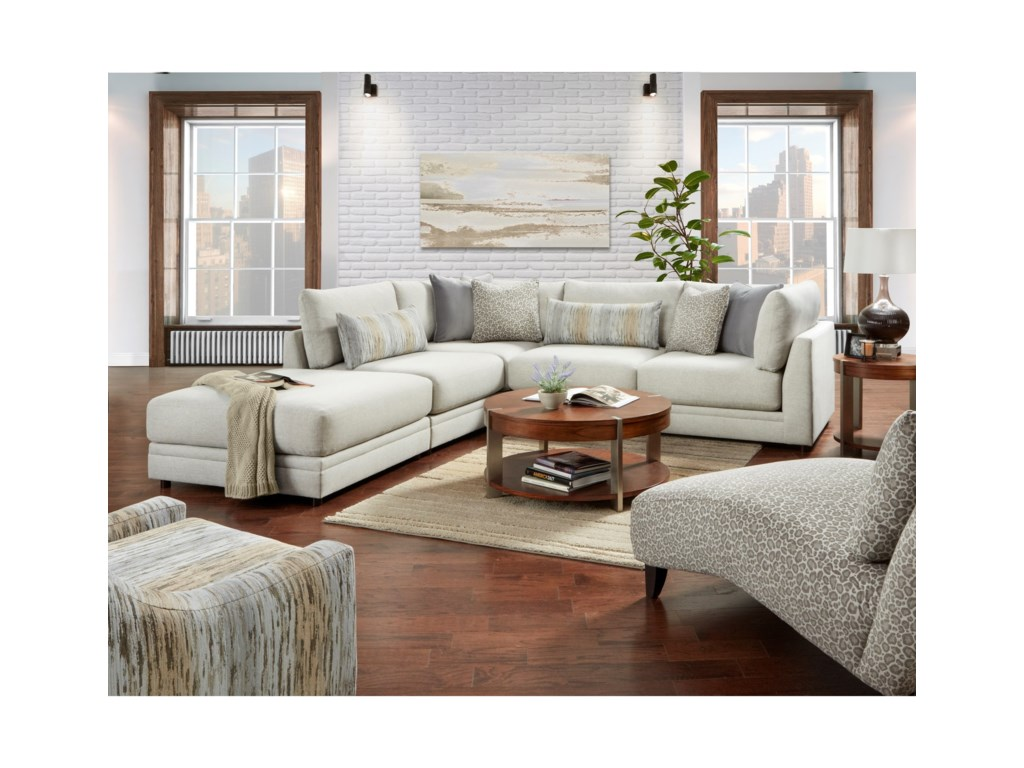 VFM Signature 02-313-Piece Sectional with Ottoman