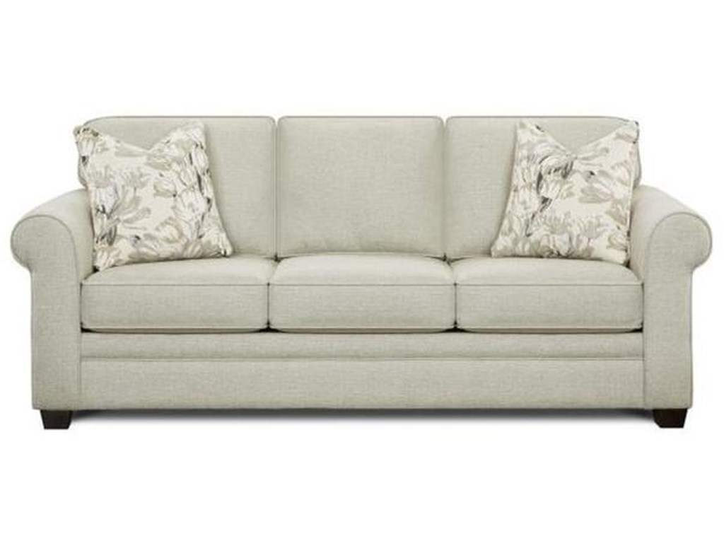 Fusion Furniture Sleeper ProgramQueen Sleeper with Memory Foam Mattress