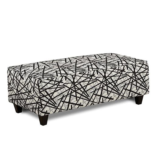 Fusion Furniture 100 Contemporary Cocktail Ottoman