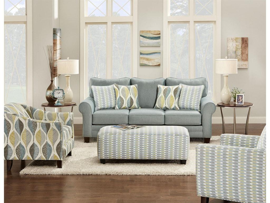 Fusion Furniture 100Ottoman