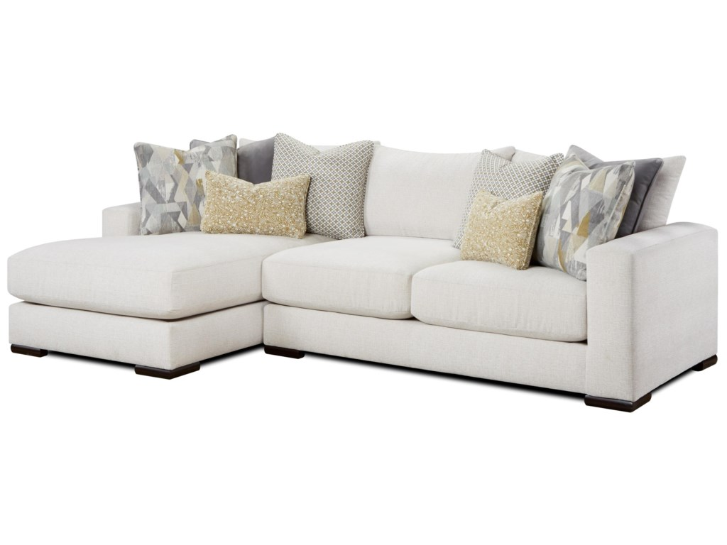 1050-20 Contemporary 2-Piece Sectional with Left Chaise by FN at Lindy\'s  Furniture Company