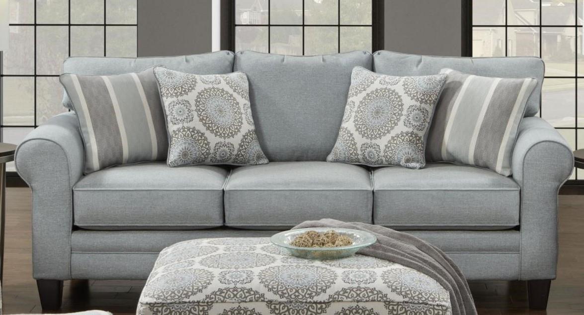 Living Room Furniture Greenville Nc fusion furniture 1140 grande mist sofa - furniture fair - north