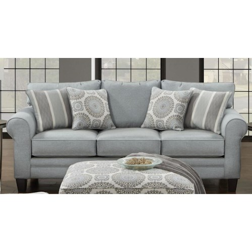 Fusion Furniture 1140 Grande Mist Sofa