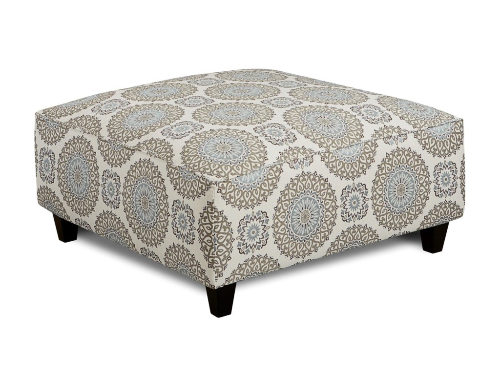 Fusion Furniture Grande MistBrianne Twilight Cocktail Ottoman