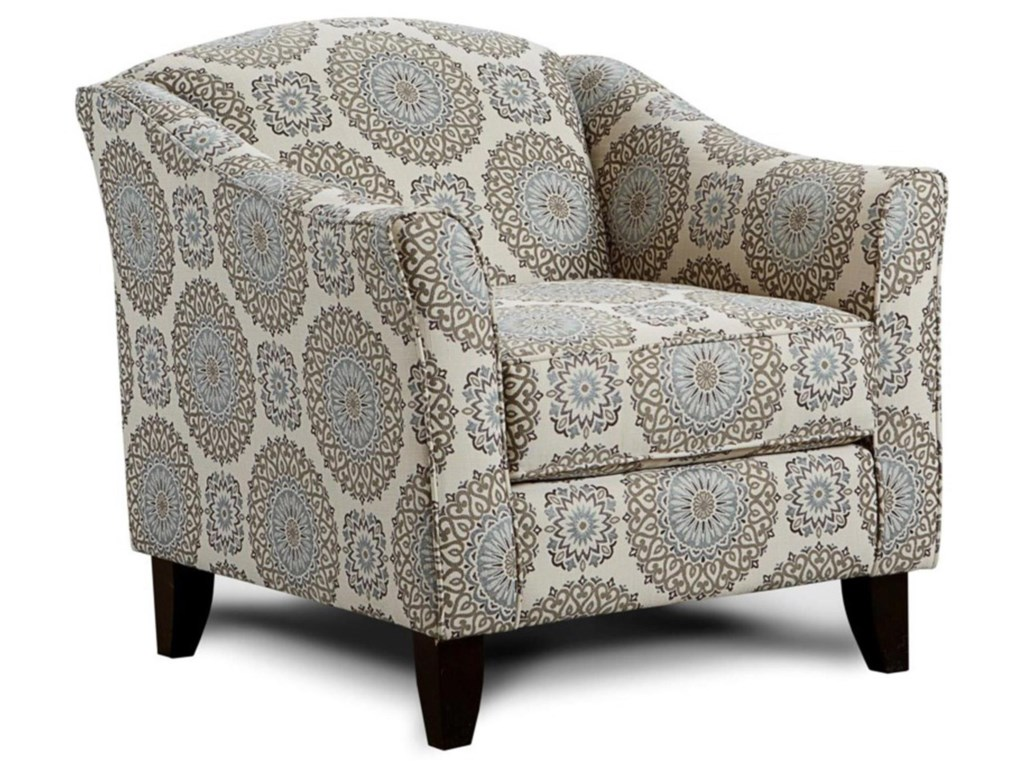 Fusion Furniture Grande MistBrianne Twilight Accent Chair