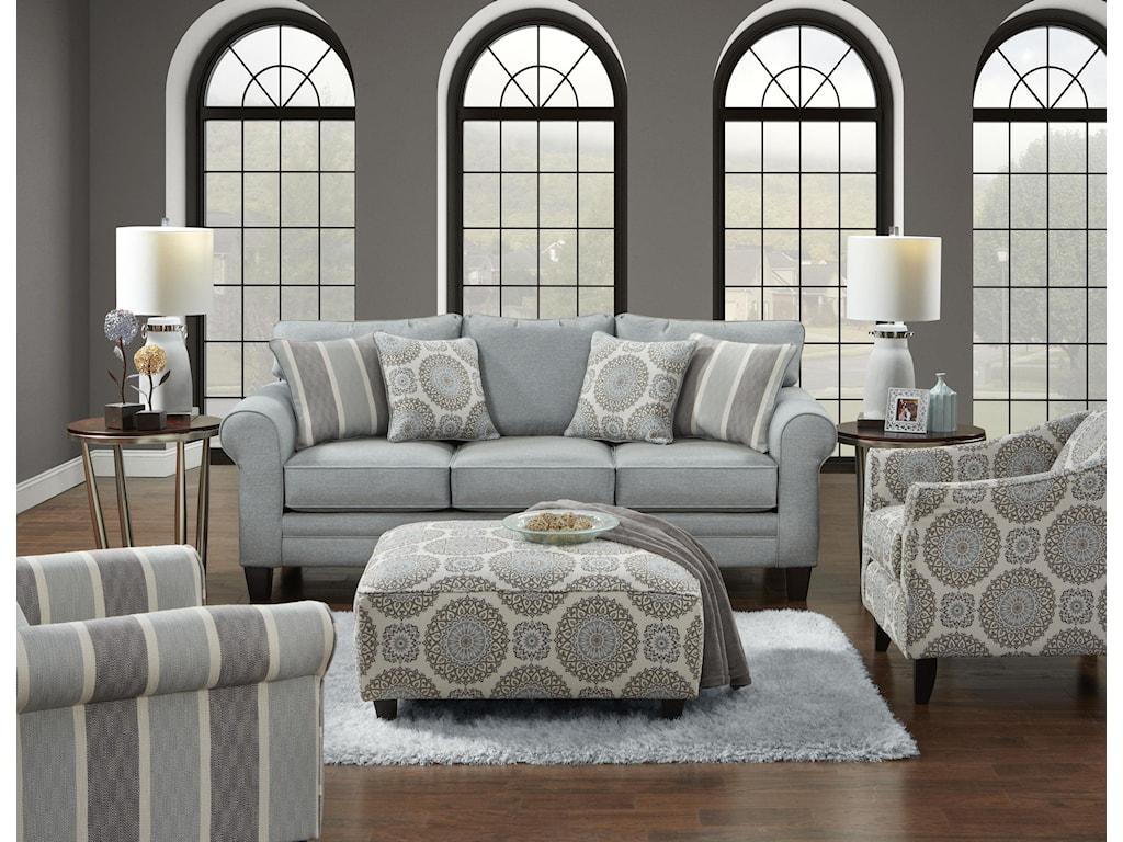 Fusion Furniture Grande MistBrianne Twilight Accent Chair