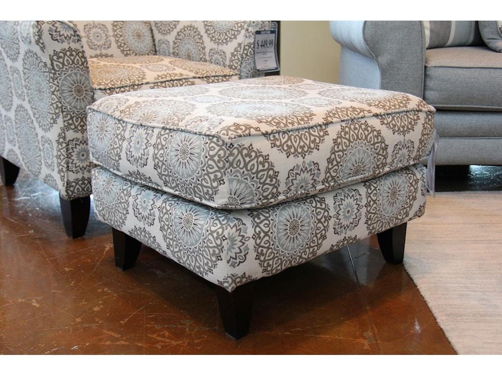 Fusion Furniture Grande MistBrianne Twilight Accent Ottoman