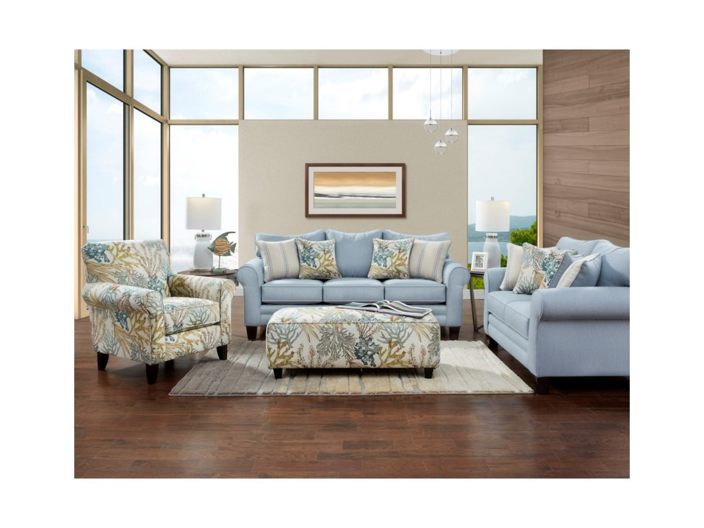 Stationary Living Room Group 1140 By Fusion Furniture Wilcox