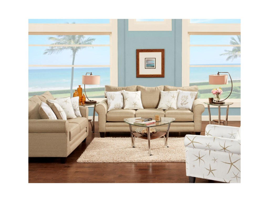 Fusion Furniture 1140Stationary Living Room Group