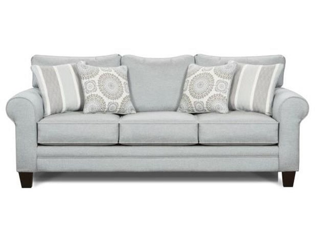 1140 Stationary Sofa W Accent Pillows By Fusion Furniture At Zak S Home